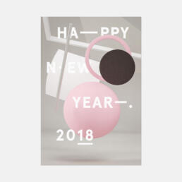 NEW YEARS CARD 2018 ©GRAPHITICA